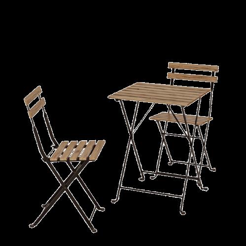 IKEA 宜家 TARNO塔爾諾實木折疊桌椅 一桌二椅 黑色