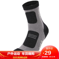埃爾蒙特 ALPINT MOUNTAIN 戶外男女襪子跑步徒步騎行襪登山襪coolmax中長款 640-925 灰色