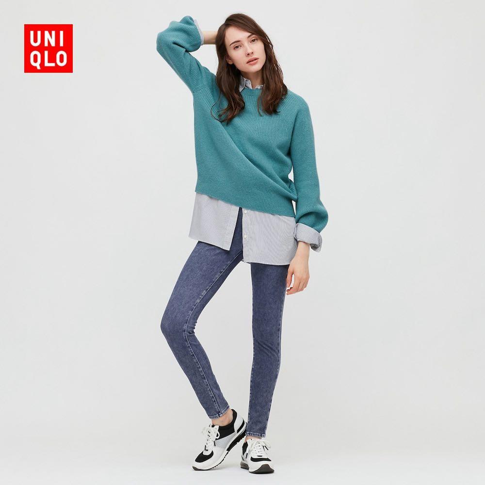 UNIQLO 优衣库 429115 女款高弹力牛仔紧身长裤