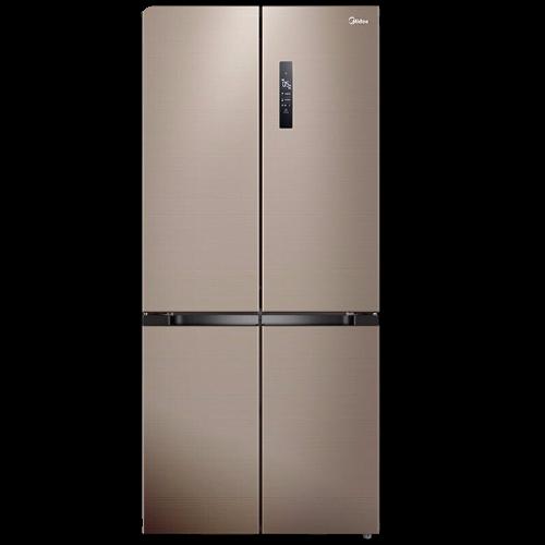 美的(Midea)495升电冰箱十字对开门超薄四开门一级能效风冷变频温湿精控智能家电BCD-495WSPZM(E)