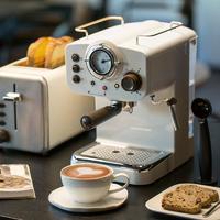 拿铁卡布在家做 复古半自动意式咖啡机