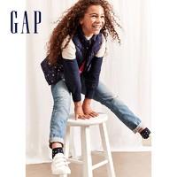 Gap 盖璞 女童直筒破洞裤