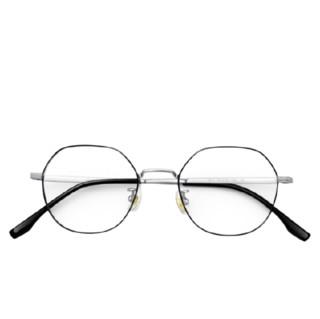 CHASM  1914 黑银色纯钛眼镜框+1.60折射率 非球面镜片