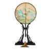 故宫千里江山艺术团扇桌面摆件家居饰品 桑蚕丝 紫光檀扇架扇柄