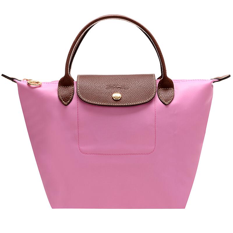 LONGCHAMP 珑骧 Le Pliage系列 女士手提饺子包 1621 089 058 粉红色 小号