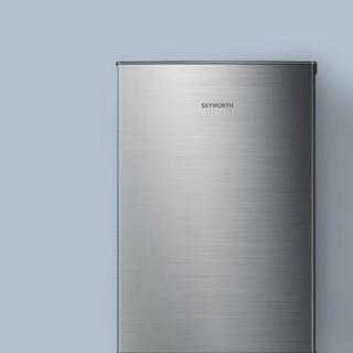 SKYWORTH 创维 BCD-160 直冷双门冰箱 160L 银色