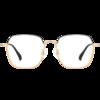 Lemon 柠檬 39003 黑金色合金眼镜框+1.56折射率 防蓝光镜片