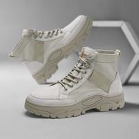 CABBEEN 卡賓 320420451405 男士時尚厚底休閑工裝靴