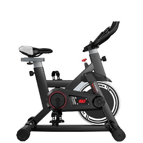 汗马 动感单车家用静音运动减肥器材健身车室内脚踏自行车 智能运动APP款-黑-100特粗车架
