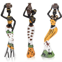CYYKDA 復古非洲雕像 3件裝