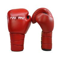 MaxxMMA 專業散打真皮手套 GBP08 紅色 12盎司