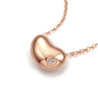 ZLF 周六福 KRDB065698 小甜心18K金钻石项链 45cm 0.5g