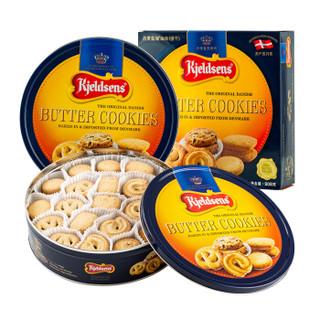 京东PLUS会员 : Kjeldsens 丹麦蓝罐 曲奇饼干 908g *2件