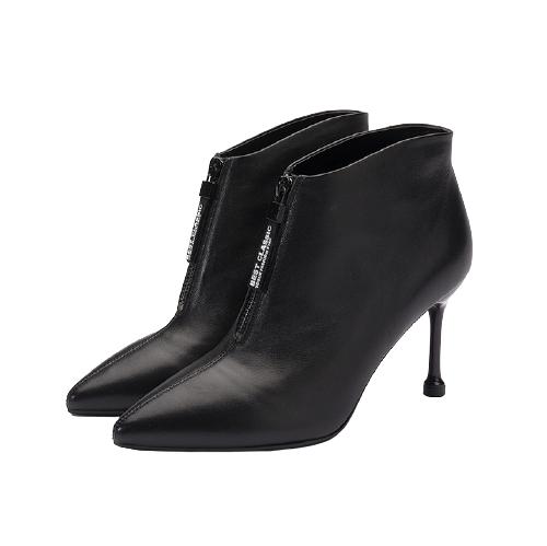FED 女士细高跟短筒靴 MWB039 黑色 37
