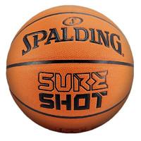 SPALDING 斯伯丁 SureShot神射手 PU篮球 76-805Y 橘色 7号/标准