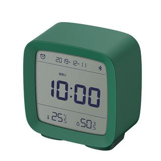 ClearGrass 青萍 蓝牙闹钟支持米家智能温湿度监测多功能夜光床头桌面学生绿色