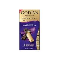礼遇情人节、88VIP:GODIVA  歌帝梵 条烤72%可可黑巧克力  90g *7件