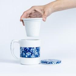 xigu 熹谷 白瓷 青花马克杯
