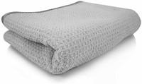 Chemical Guys MIC78101蜂窝纹灰色材料超细纤维抹干毛巾 25 英寸x 36 英寸