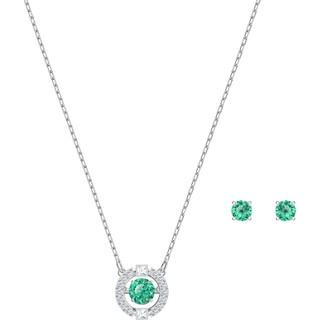 SWAROVSKI 施华洛世奇 跳动的心系列套装 绿色跃动水晶耳饰/项链套装