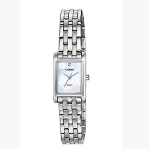 CITIZEN 西铁城 EJ6121-51D 女士不锈钢珍珠贝母手表