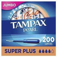 Prime会员 : TAMPAX 丹碧丝 珍珠导管式卫生棉条 超大流量版 50支*4盒装
