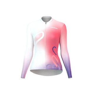 JAKROO 捷酷 21年情人节定制款 女子长袖骑行服 白粉紫 S *3件