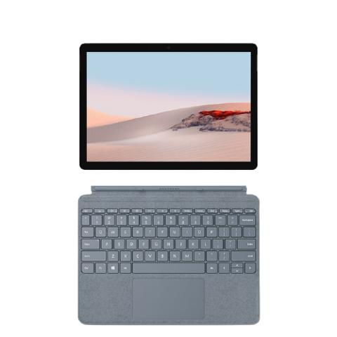微软 Surface Go 2 亮铂金+冰晶蓝键盘  二合一平板电脑 笔记本电脑 10.5英寸 酷睿m3 8G 128G SSD LTE