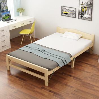 彭友家私 折叠床 单人床实木床午休床办公室休息床行军床简易床 1.2米宽 PY-SX12