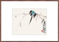 荣宝斋 装饰画 现代中式卧室客厅玄关 壁画国画 花卉 赵少昂 木版水印