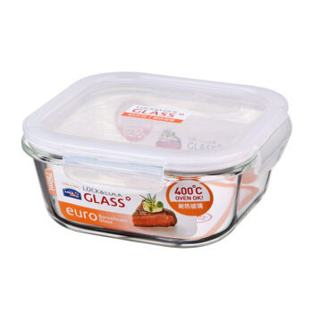 乐扣乐扣(LOCK&LOCK) 格拉斯耐热玻璃保鲜盒 微波炉烤箱便当盒 方形圆形饭盒 正方形LLG224  750ml *6件