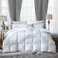 奈士迪 95%白鹅绒加厚冬被 保暖羽绒冬被五星酒店双人鹅绒被防钻绒 白色 200*230cm