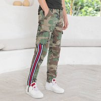 REPLAY新品2020夏欧美品质男迷彩图案条纹撞色工装休闲裤潮流长裤 *2件