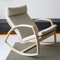 或许 Hygge  曲木摇椅 框架+坐垫