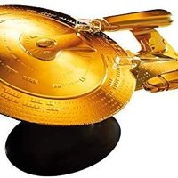 中亞prime會員 : 星際迷航官方星艦系列 | U.S.S. Enterprise NCC-1701-D 18K 鍍金 XL 版 Eaglemoss Hero Collector 出品
