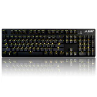 19日0点 : AJAZZ 黑爵 机械战警 合金版 机械键盘 青轴 黑色 RGB