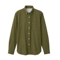 MUJI 无印良品 M9AC766 男式纽扣领衬衫