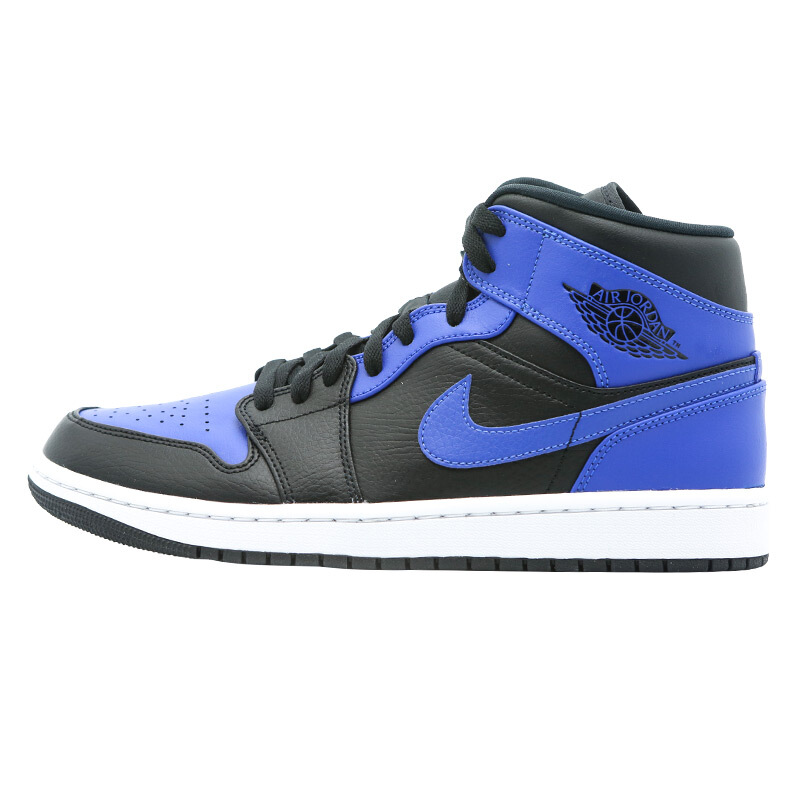 AIR JORDAN Air Jordan 1 Mid 男子休闲运动鞋 554724-077 蓝黑白 44