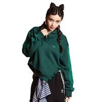adidas 阿迪达斯 HOODIE 女子运动卫衣 FU3864 绿色 34