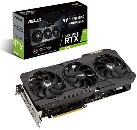ASUS 华硕 TUF Gaming NVIDIA GeForce RTX 3080 OC 版显卡(PCIe 4.0,10GB GDDR6X,HDMI 2.1,DisplayPort 1.4a,双滚珠风扇轴承,*级认证,GPU Tweak II)