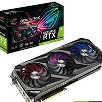 ASUS 华硕 ROG Strix NVIDIA GeForce RTX 3060 Ti OC 版游戏显卡(PCIe 4.0,8GB GDDR6,HDMI 2.1,DisplayPort 1.4a,Axial-tech 风扇设计,2.9插槽,超合金Power II,GPU Tweak II)