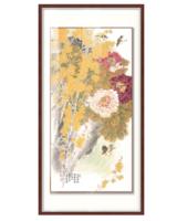 现代中式新中式玄关装饰画挂画国画花鸟 戴志文 富贵连年