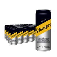 京东PLUS会员、限地区:Schweppes 怡泉 调酒汽水无糖零卡 苏打水 330ml*24罐 *4件