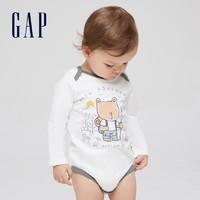 Gap 盖璞 663871 婴儿长袖连体衣