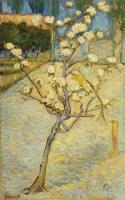 梵高《梨花树》 风景油画竖版轻奢客厅过道装饰画