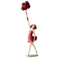 Miz 米子家居 氣球女孩擺件 紅色 47.5*18cm