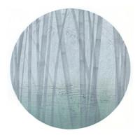 艺术品:石磊木刻水印版画——《朝花不夕拾之三》 画芯尺寸 60×60cm