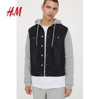 H&M 0407354 男士连帽牛仔夹克