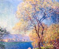 欧式风景油画 莫奈 《樱花树印象》