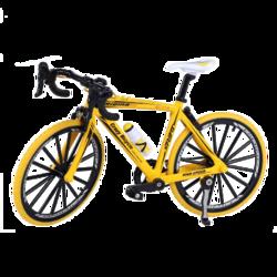 优迭尔 迷你自行车模型 19*11*5.5cm 黄色
